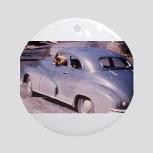 Bear Driving Photo Ornament (Round)