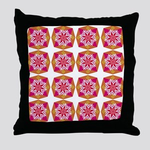 Hot Colors Geometric Times Sixteen Throw Pillow