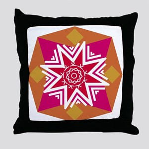 Hot Colors Geometric Throw Pillow