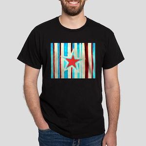 Red White and Blue Star Dark T-Shirt
