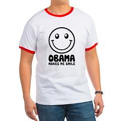 Obama Makes Me Smile Ringer T