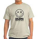 Obama Makes Me Smile Light T-Shirt