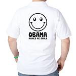 Obama Makes Me Smile Golf Shirt