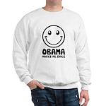 Obama Makes Me Smile Sweatshirt