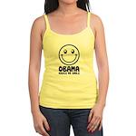 Obama Makes Me Smile Jr. Spaghetti Tank