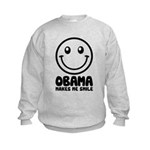 Obama Makes Me Smile Kids Sweatshirt