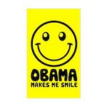 Obama Makes Me Smile Rectangle Sticker
