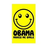 Obama Makes Me Smile Rectangle Sticker 10 pk)