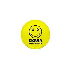 Obama Makes Me Smile Mini Button
