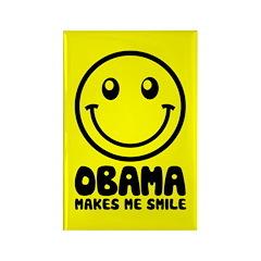 Obama Makes Me Smile Rectangle Magnet