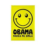 Obama Makes Me Smile Rectangle Magnet (100 pack)