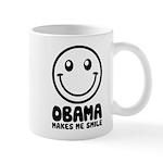 Obama Makes Me Smile Mug