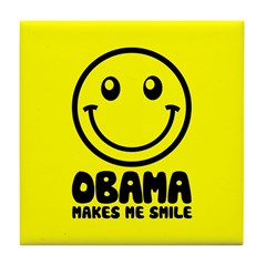 Obama Makes Me Smile Tile Coaster