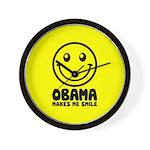 Obama Makes Me Smile Wall Clock