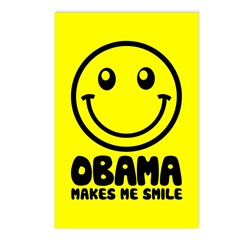 Obama Makes Me Smile Postcards (Package of 8)