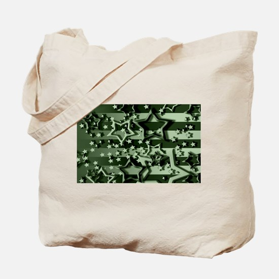 CAMOUFLAGED STARS & STRIPES Tote Bag
