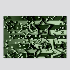 CAMOUFLAGED STARS & STRIPES Postcards (Package of