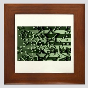 CAMOUFLAGED STARS & STRIPES Framed Tile