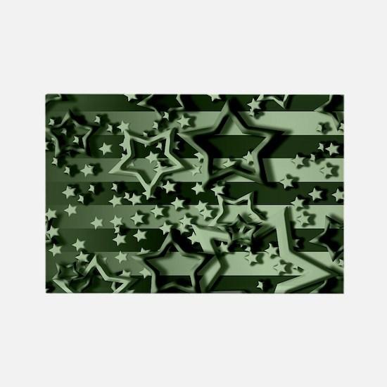 CAMOUFLAGED STARS & STRIPES Rectangle Magnet