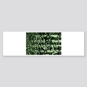 CAMOUFLAGED STARS & STRIPES Bumper Sticker