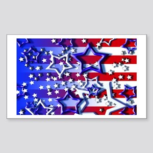 STARS & STRIPES Rectangle Sticker