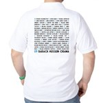 All Presidents up to Obama Golf Shirt