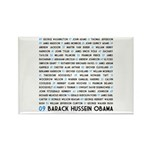 All Presidents up to Obama Rectangle Magnet (10 pa