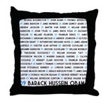 All Presidents up to Obama Throw Pillow