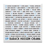 All Presidents up to Obama Tile Coaster