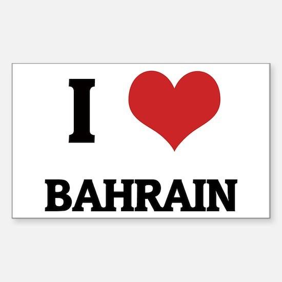 I Love Bahrain Rectangle Decal