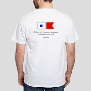 """Set Back"" White T-Shirt"