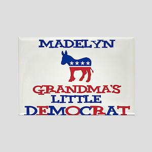 Madelyn - Grandma's Democrat Rectangle Magnet