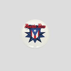 Puerto Rico Star Mini Button