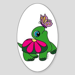 Lil' Turtle Oval Sticker