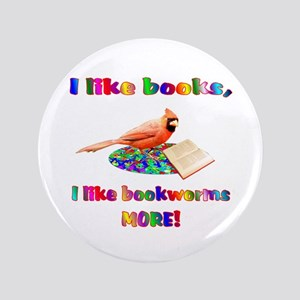 "Bookworm 3.5"" Button"