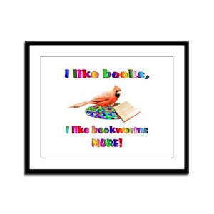 Bookworm Framed Panel Print
