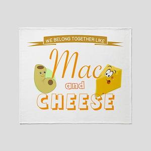 TOGETHER LIKE MAC & CHEESE Throw Blanket