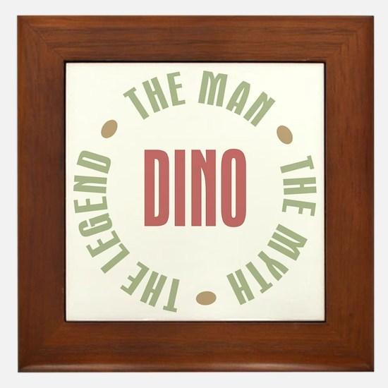 Dino Man Myth Legend Framed Tile