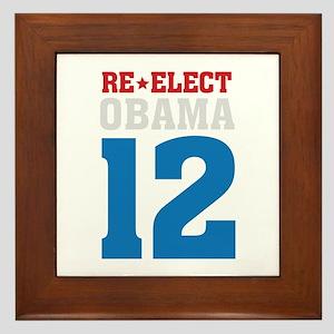 re-elect Obama Framed Tile