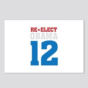 re-elect Obama Postcards (Package of 8)