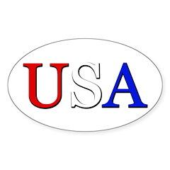 USA Oval Decal