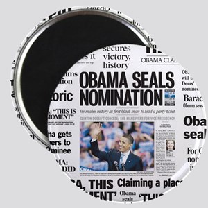 Historic Headlines Obama Magnet