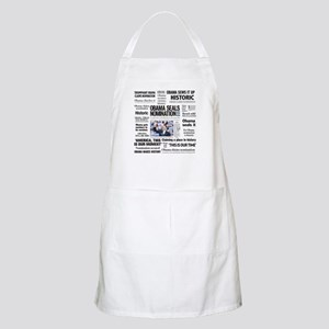 Historic Headlines Obama BBQ Apron