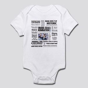 Historic Headlines Obama Infant Bodysuit