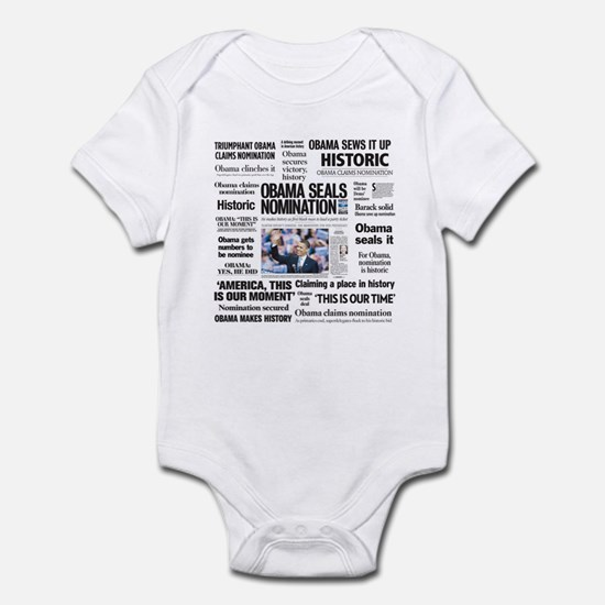 Historic Headlines Obama Infant Bodysuit