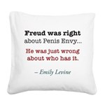 Freud by Emily Levine Square Canvas Pillow