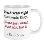 Freud By Emily Levine Left-Handed Mugs