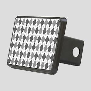 Grey: Argyle Pattern Rectangular Hitch Cover