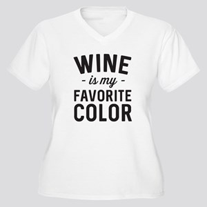 Wine Is My Favorite Color Plus Size T-Shirt