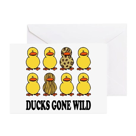 Ducks Gone Wild Greeting Cards (Pk of 10)